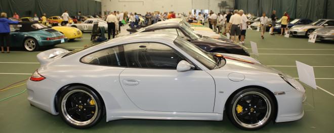 White Porsche 911 at the Porsche Parade Concours