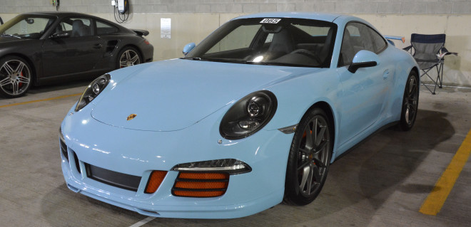 Powder blue Porsche at the Porsche Parade