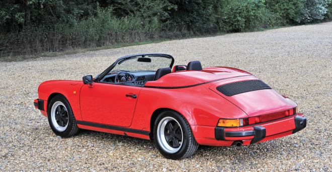 Red 1989 Porsche 911 Speedster financing