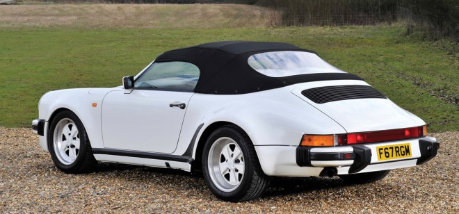 Lease a white 1989 Porsche 911 Speedster
