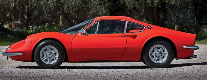 Lease a red Ferrari Dino 206 GT profile
