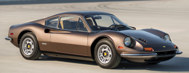 Lease a brown Ferrari Dino with Premier