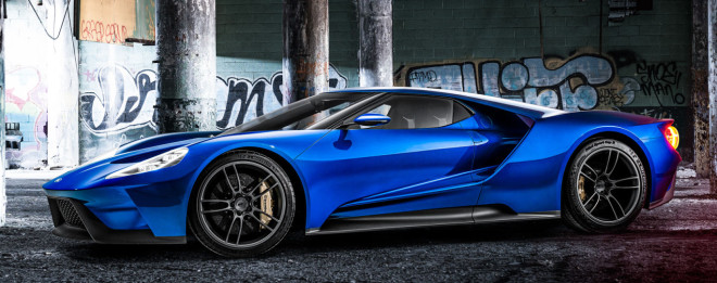 Lease a blue Ford GT with Premier