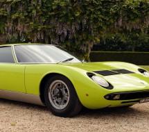 Lease a green Lamborghini Miura with PFS