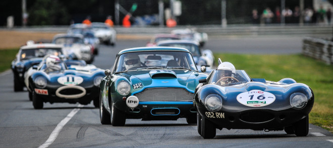 Vintage car race at the Le Mans Classic