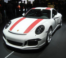 Lease a white with red stripes Porsche 911 R