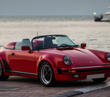 Lease a red 1989 Porsche 911 Speedster