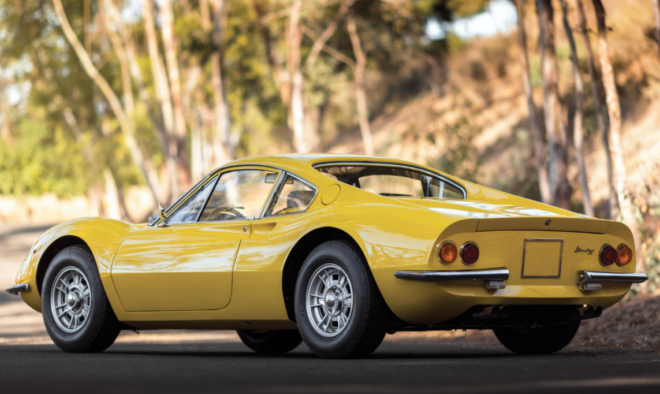 Lease a yellow Ferrari Dino 246 GT