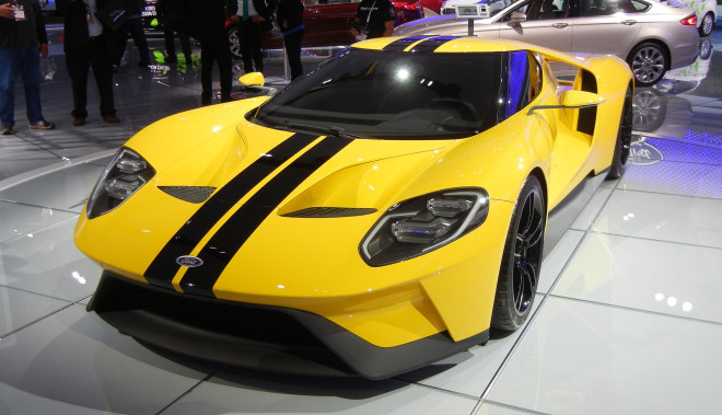 The 2017 Ford GT at the New York Auto Show.