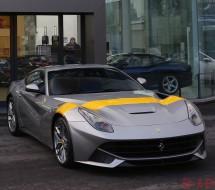 Lease a silver Ferrari F12 tdf