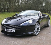 Lease a black convertible Aston Martin Virage