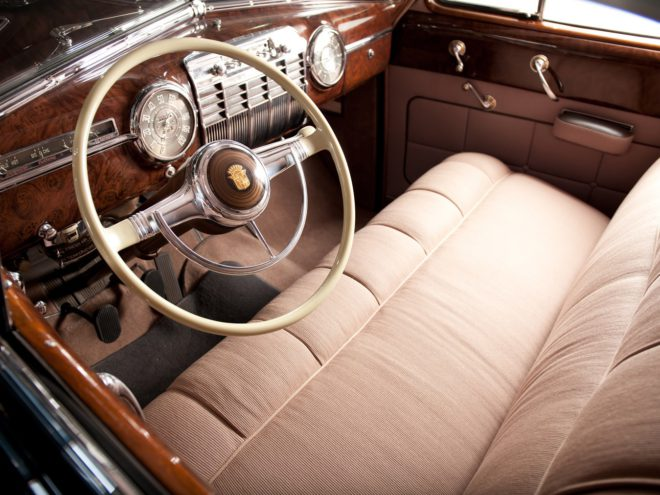 The interior of a 1941 Cadillac Series 75
