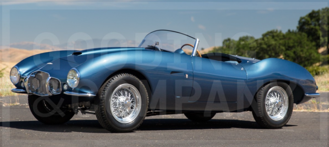 Lease a blue Aston Martin DB2/4 Spider by Bertone