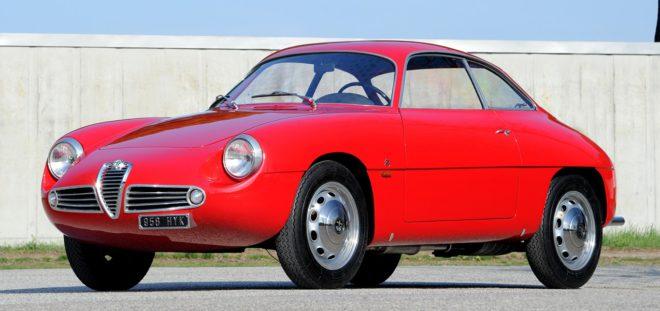 Lease a red 1960 Alfa Romeo Giulietta Sprint Zagato