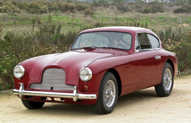Lease a maroon Aston Martin DB2