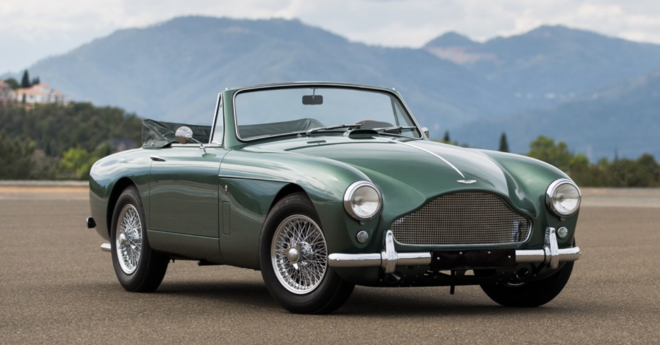 Lease a green Aston Martin DB2/4 Mk. III convertible