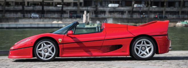 Lease a red Ferrari F50
