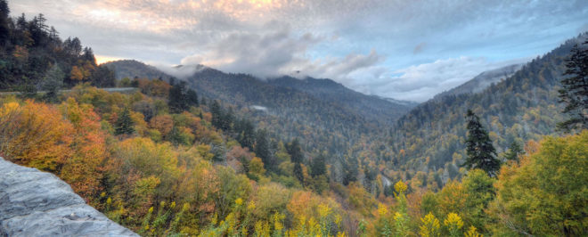 The Great Smoky Mountains alongside The Tail of the Dragon