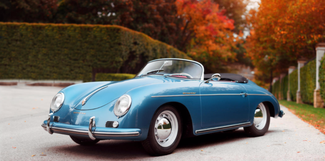 Lease a blue Porsche 356 Speedster from auction
