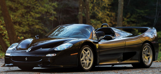 Black Ferrari F50 financing