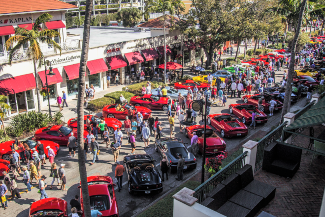 Aerial view of Cars on 5th show