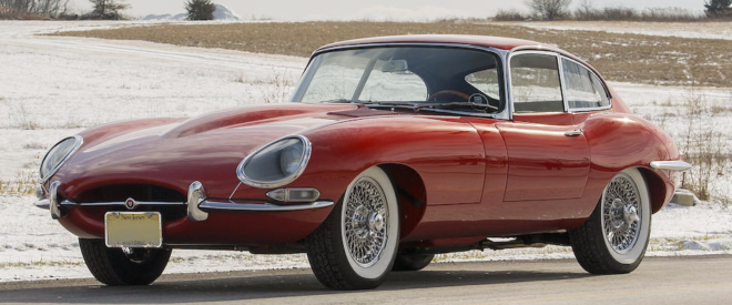 Red 1964 Jaguar E-Type Coupe