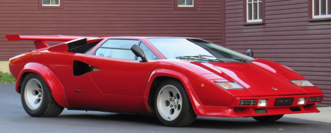 Red 1986 Lamborghini Countach