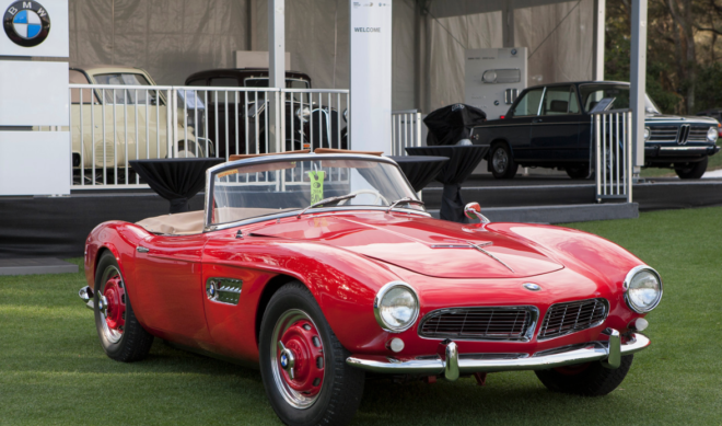 Red BMW 507 at Amelia Island
