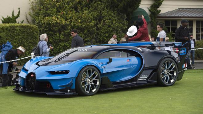 Lease a blue Bugatti