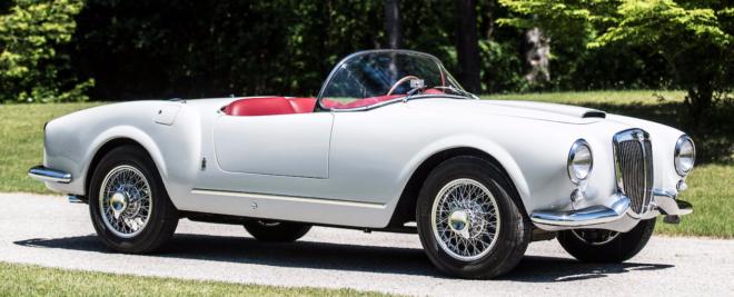 White 1955 Lancia Aurelia Spider
