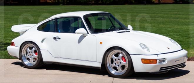 white Porsche 911 Turbo Flachbau