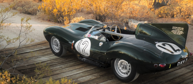 Green Jaguar D-Type at auction