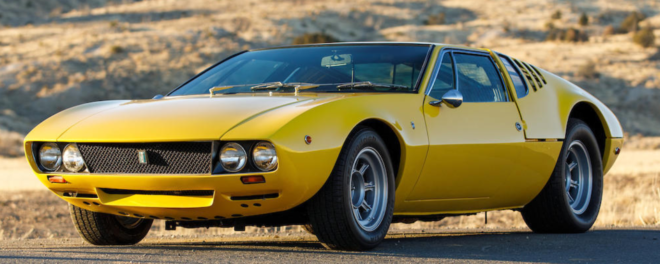 Lease a yellow DeTomaso Mangusta