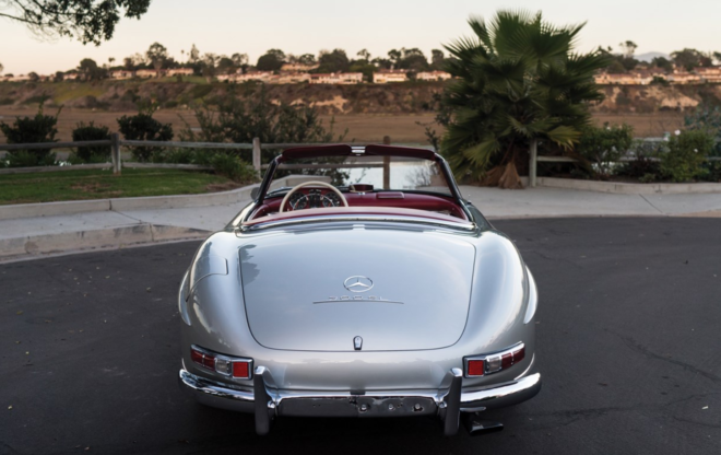 Silver Mercedes 300SL Roadster at auction