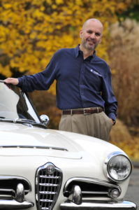 Mitch Katz with 1965 Alfa Romeo Giula Spider