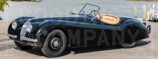 Lease a black Jaguar XK120