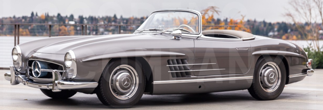 Lease a silver Mercedes 300 SL Roadster