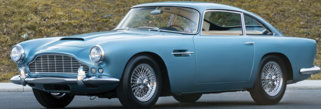 Lease a blue Aston Martin DB4