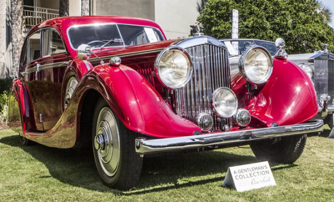 Lease this 1936 Bentley 4 ¼- Litre Airflow Saloon by Gurney Nutting offered by RM Sotheby's