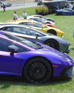 Lease a purple Lamborghini