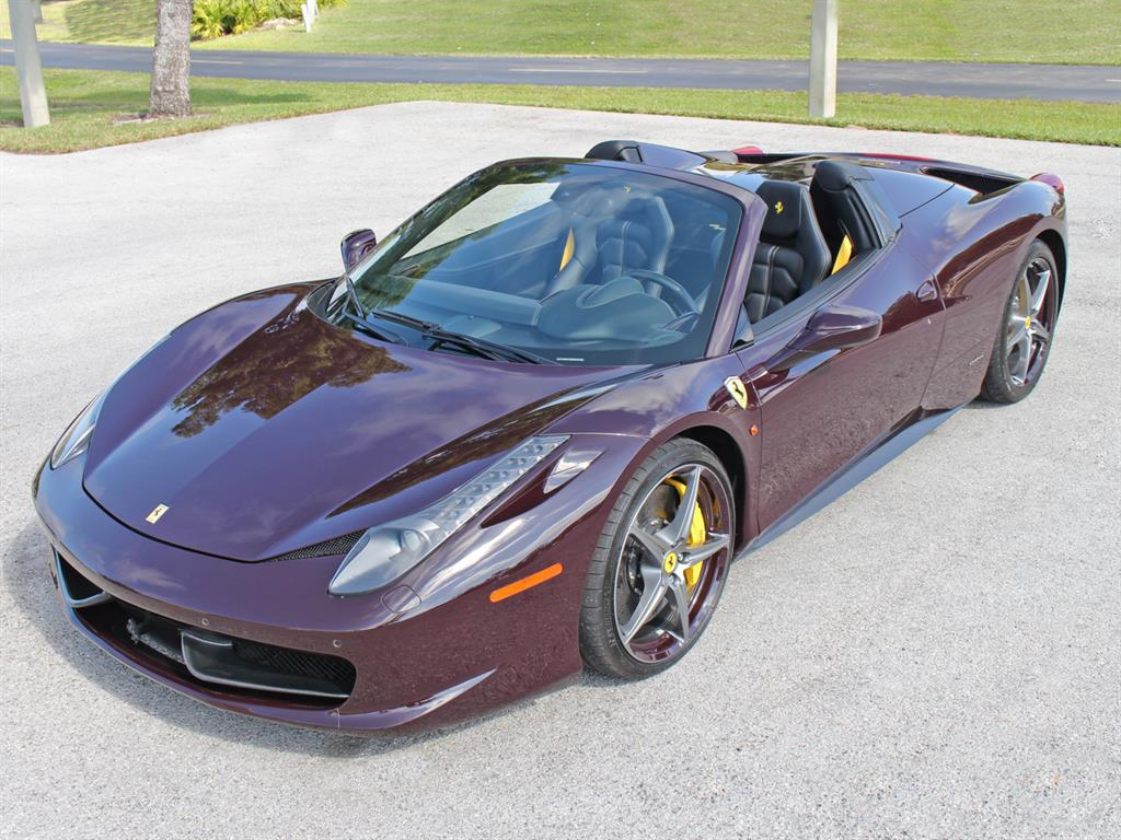 Joe G 2014 Ferrari 458 Spider Purple'