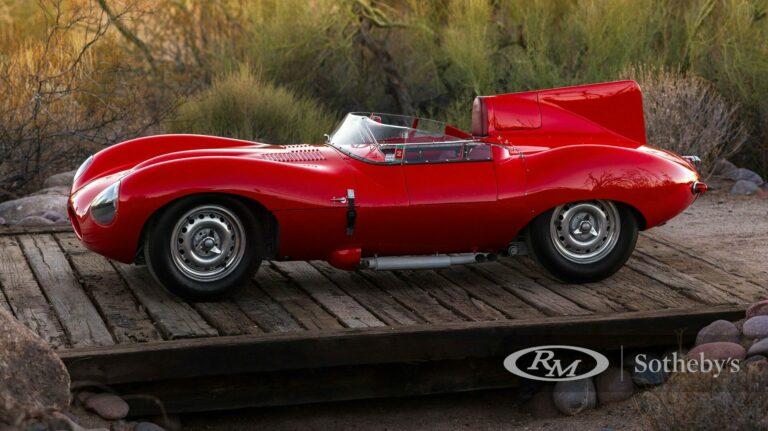 This 1955 Jaguar D Type sold for $6 million.