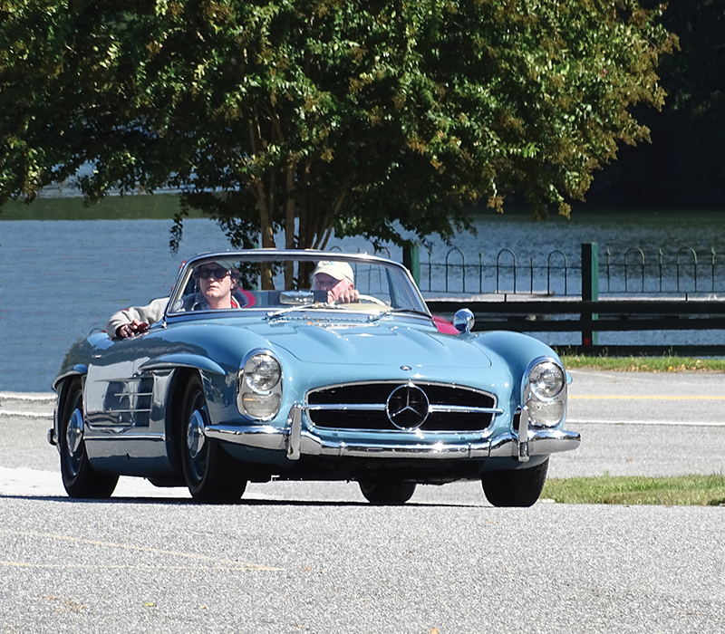 Previous Mountain Mille Vintage Car Rally. 1958 Mercedes Benz 300SL lease a Mercedes with #pfs_leasing