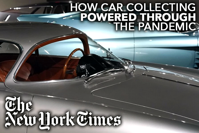 New York Times article on Vintage and Exotic Car Collecting during COVID Premier Financial Services Exotic Car Leasing