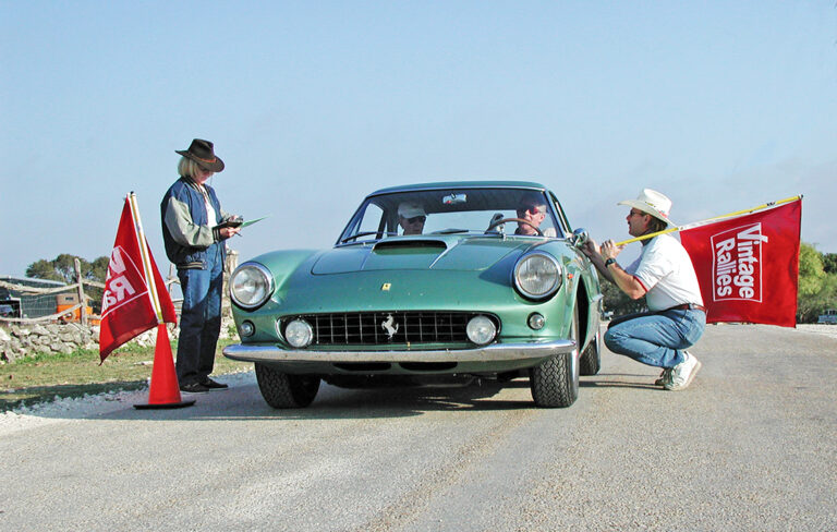 Vintage Ferrari 400 SA at Texas Rally lease a Ferrari with #pfs_leasing