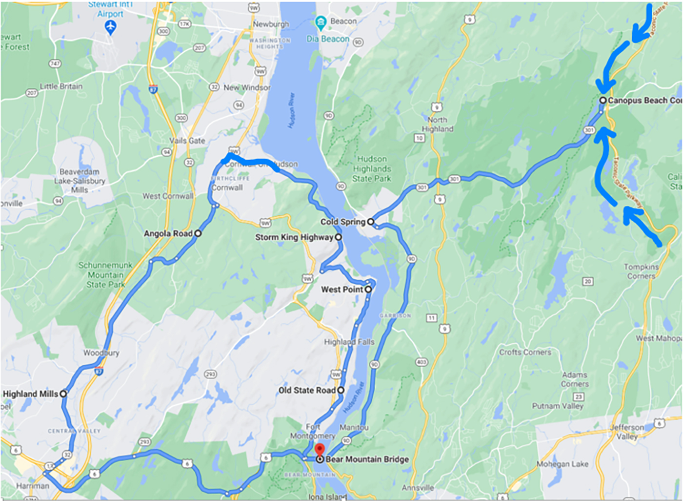 My Favorite Drive Storm King Highway, Google Driving Directions Map, Exotic Car Leasing