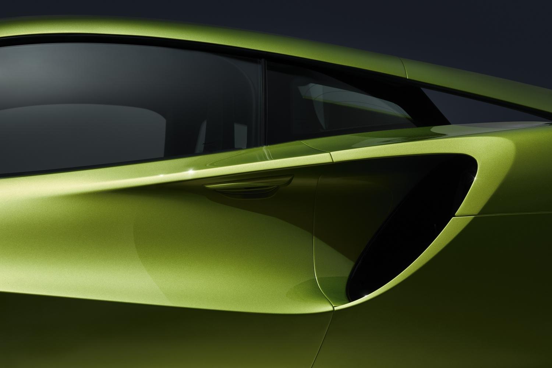 Napier green 2022 McLaren Artura air intake. Finance a McLaren with #pfs_leasing