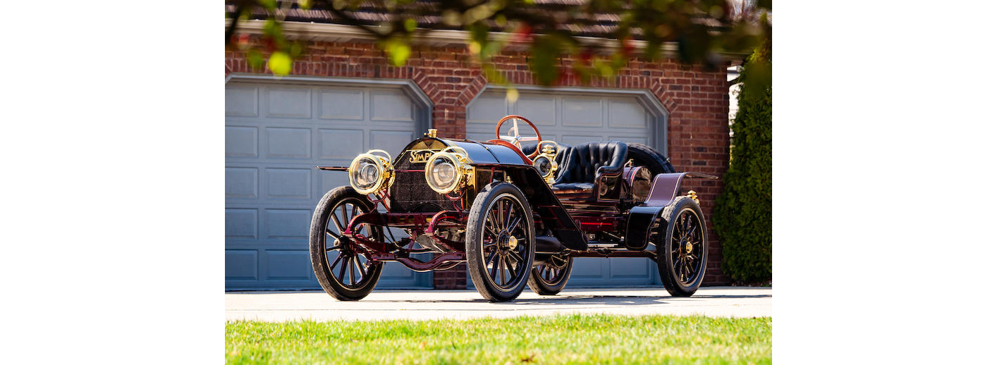 Brass Era maroon jalopy; 1908 Simplex 50 HP Speedcar, believed to be the oldest surviving Simplex. Antique Car Leasing with #pfs_leasing.