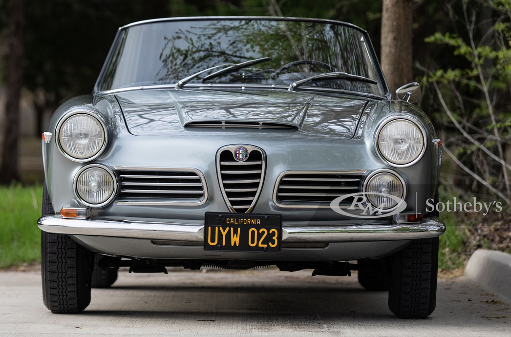 1965 Alfa Romeo 2600 Spider, Silver, Front View - Lease a Vintage Alfa with Premier from RM Sotheby's Auction
