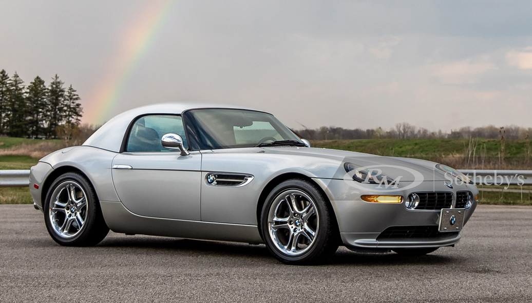 2002 BMW Z8. Silver with Rainbow in sky behind car - BMW Leasing with the PFS Simple Lease, Bid at RM Sotheby's